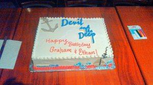 devil opening cake